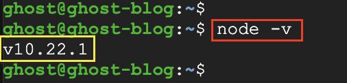 Check node.js version
