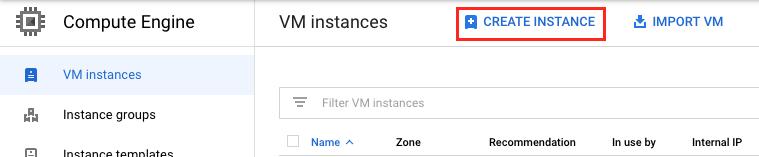 Deploy compute Engine instance
