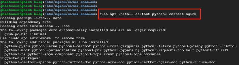 Install NGINX Certbot