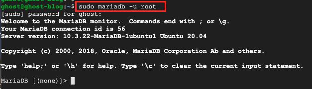 MariaDB login server