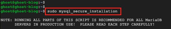 Secure MySQL Server